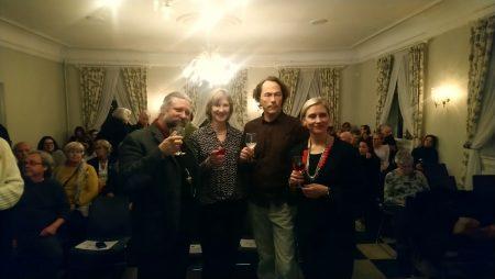 Vin & vitensskap foredragsholdere Peter Bøckmann, Marit Grønbech, Andreas Løvold og Siri Fjellheim.