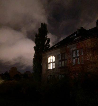 Stemningsfull og skummel bygning