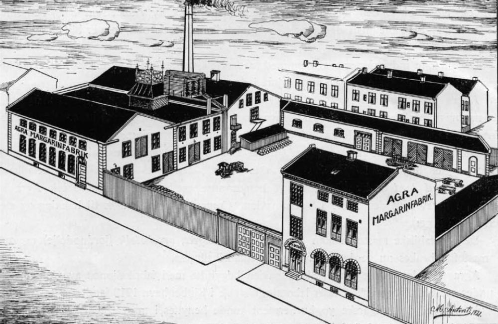 Agras første storhetstid. Fabrikken i 1921.